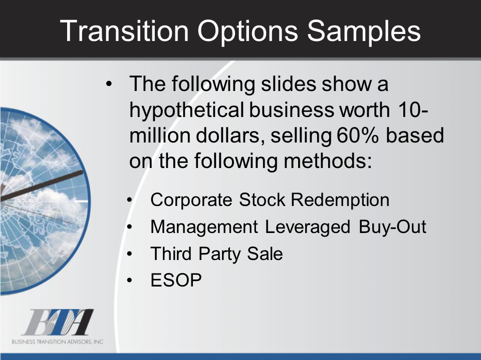 Transition Options Samples