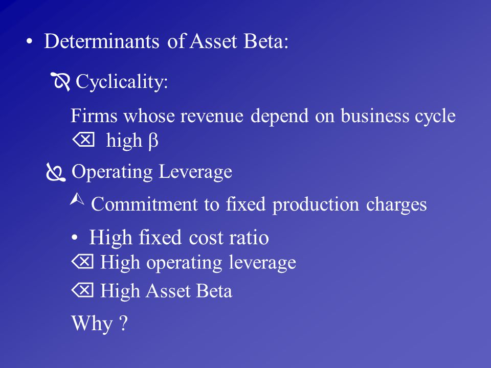 Determinants of Asset Beta: