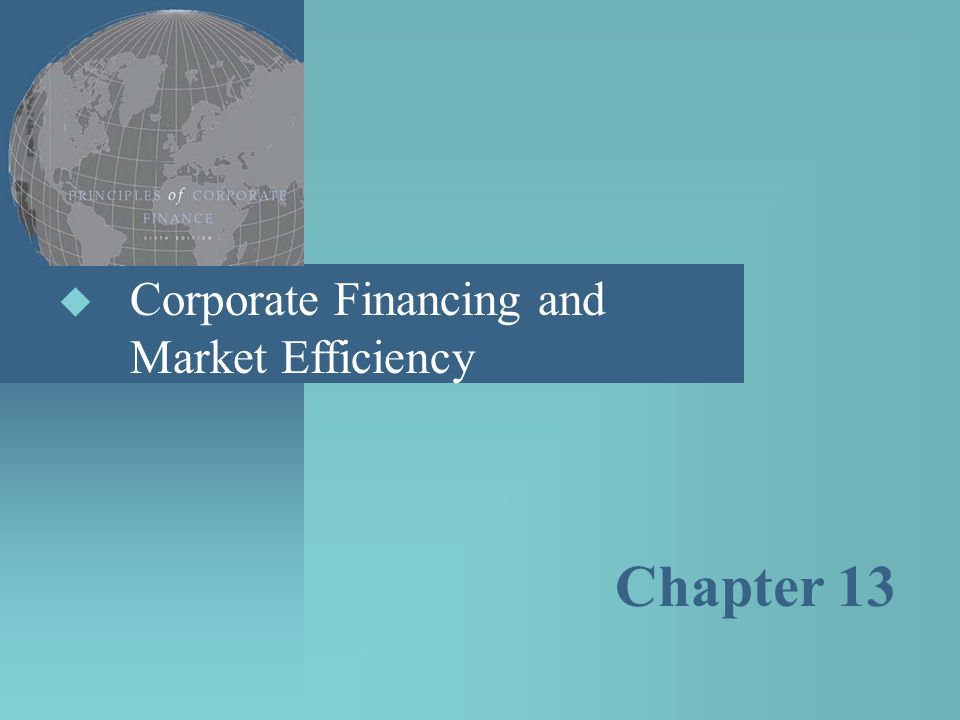 Corporate Financing and