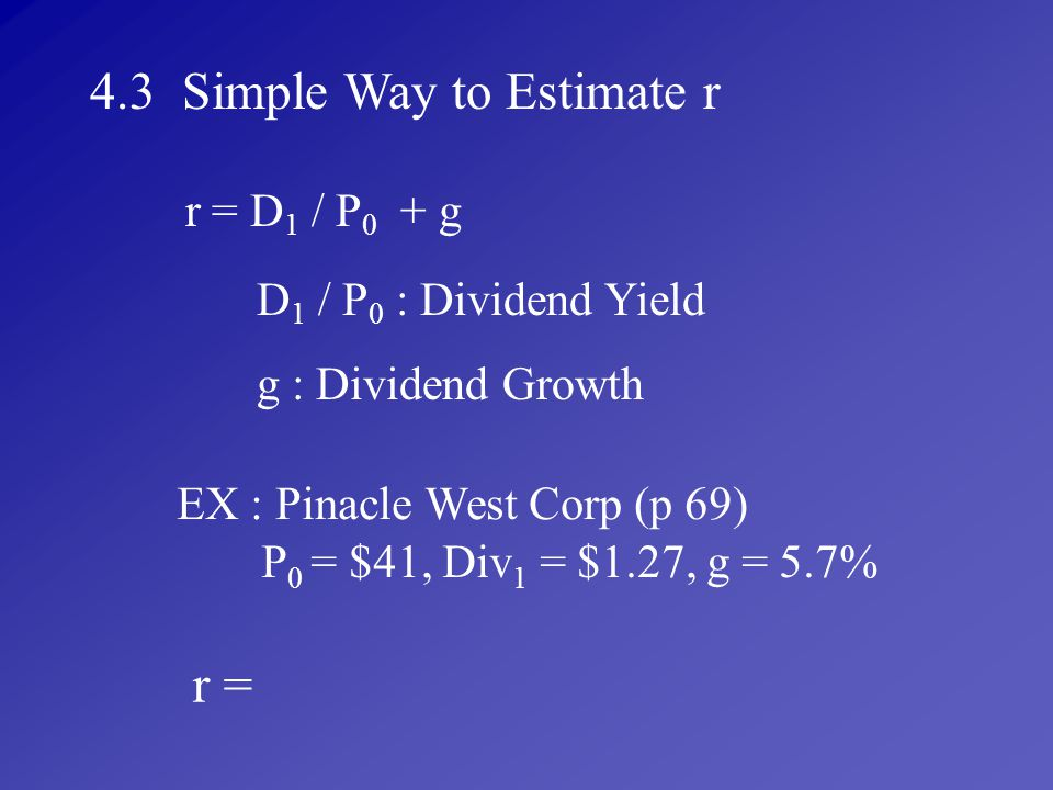 EX : Pinacle West Corp (p 69)