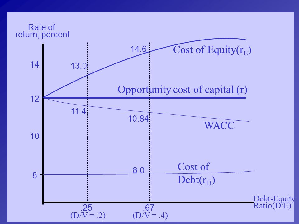 Opportunity cost of capital (r)