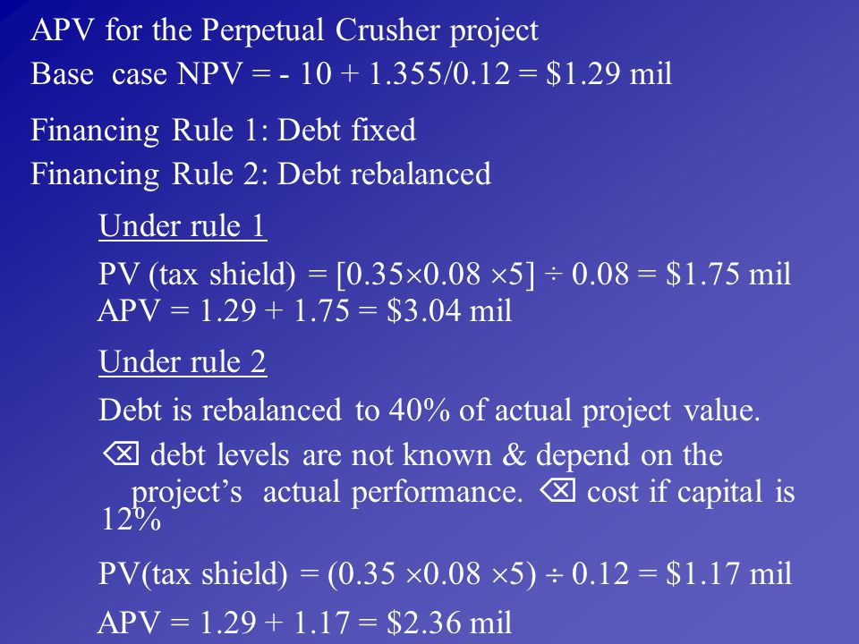 APV for the Perpetual Crusher project
