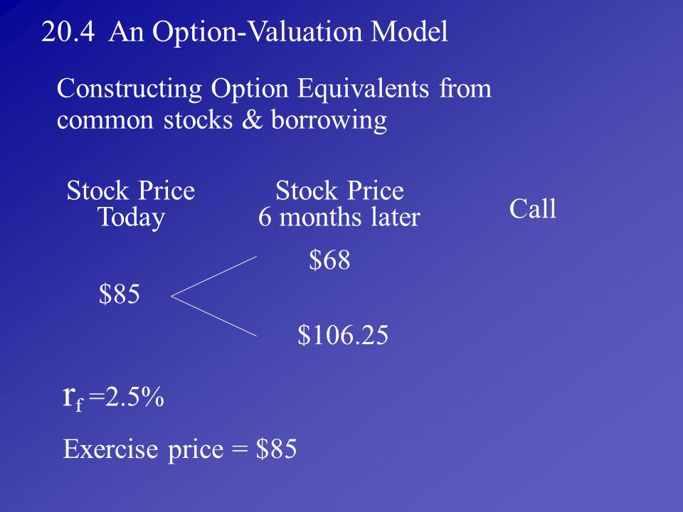 rf =2.5% 20.4 An Option-Valuation Model