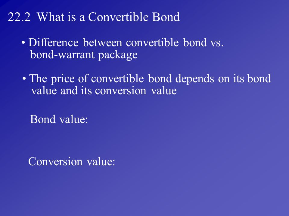 22.2 What is a Convertible Bond