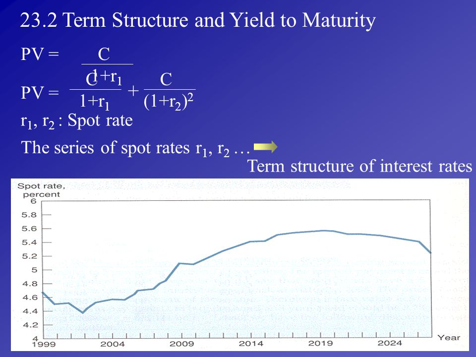 23.2 Term Structure and Yield to Maturity