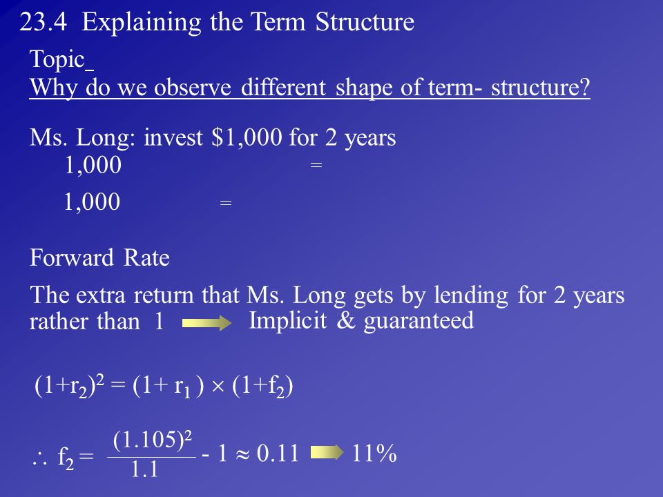 23.4 Explaining the Term Structure