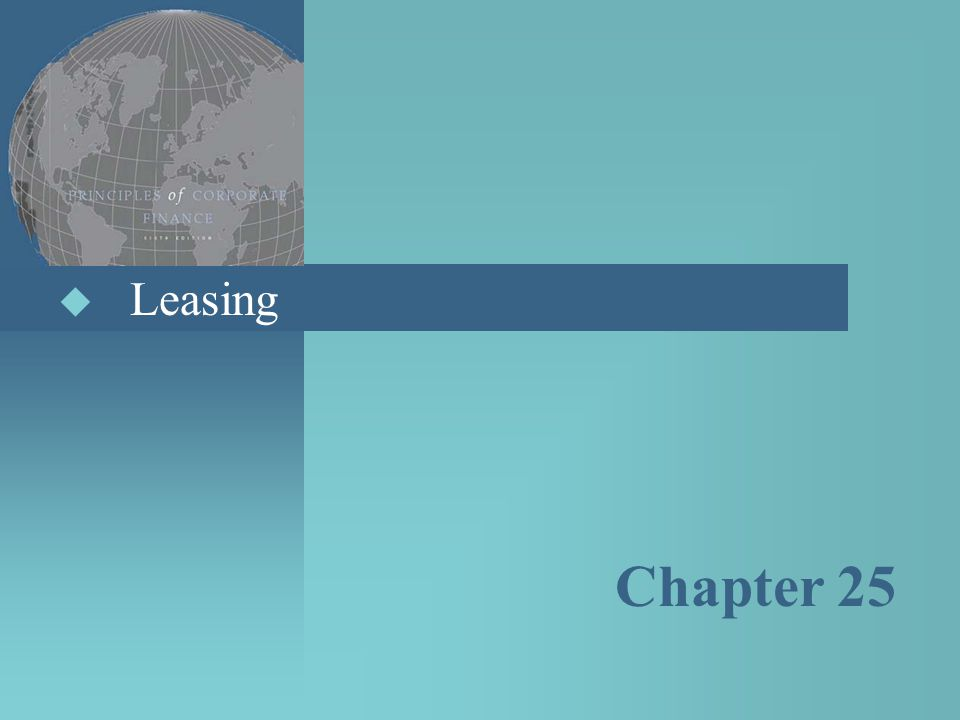 Leasing Chapter 25