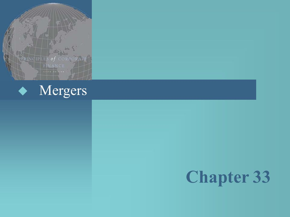 Mergers Chapter 33