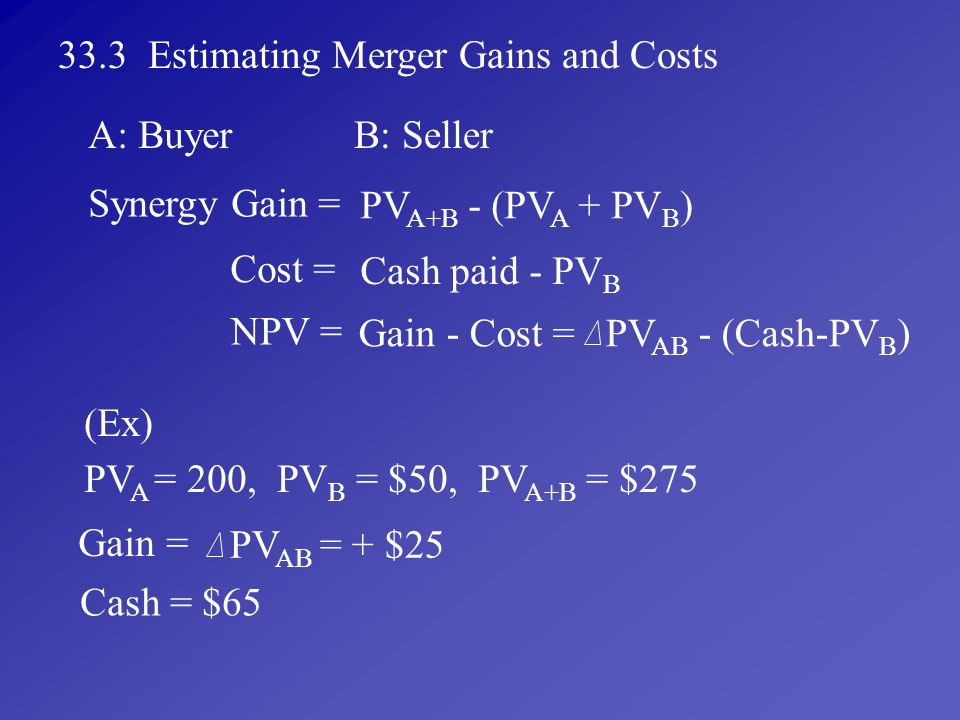 33.3 Estimating Merger Gains and Costs
