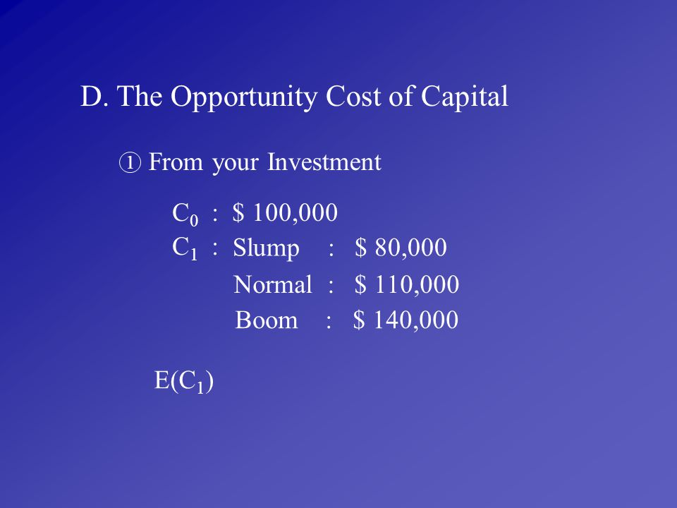 D. The Opportunity Cost of Capital