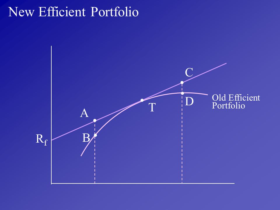 New Efficient Portfolio