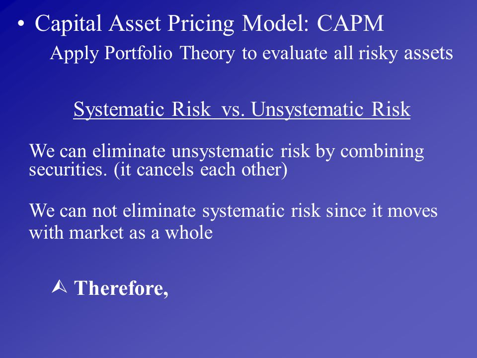Systematic Risk vs. Unsystematic Risk