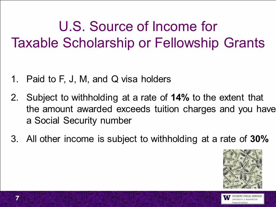 Taxable Scholarship or Fellowship Grants