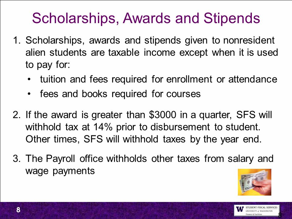 Scholarships, Awards and Stipends