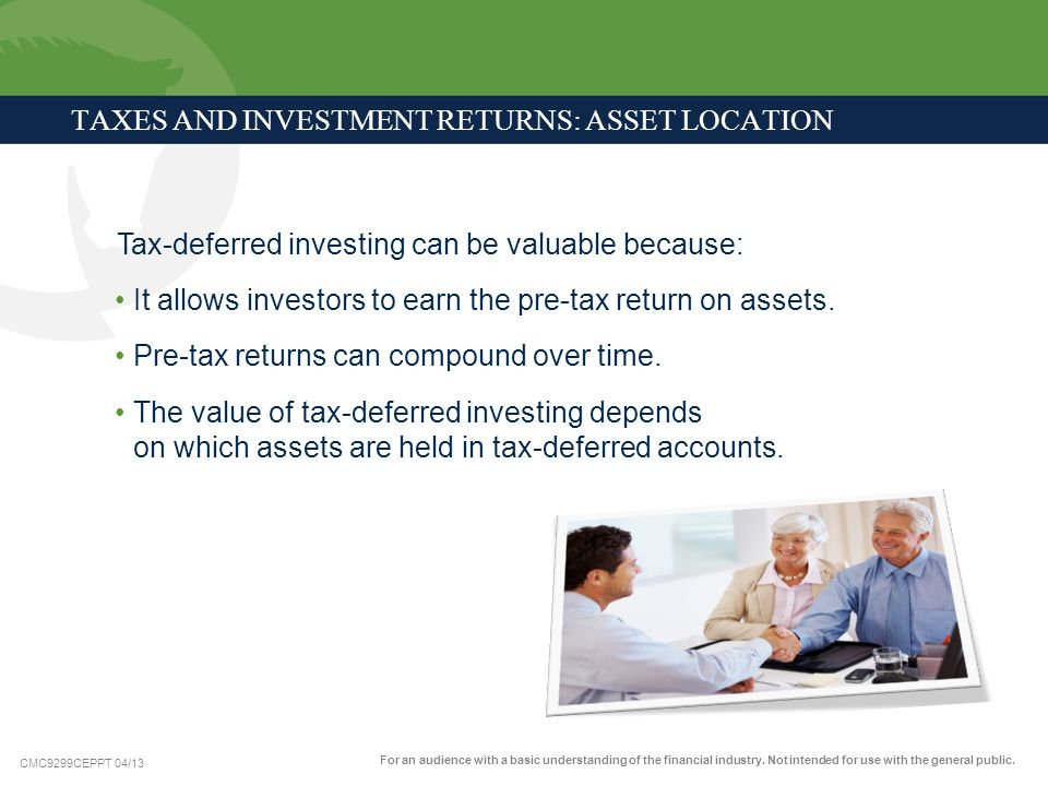 TAXES AND INVESTMENT RETURNS: ASSET LOCATION