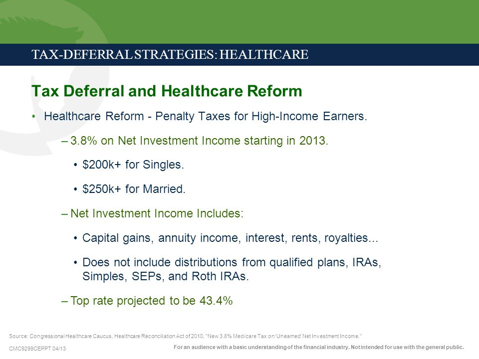 Tax-Deferral Strategies: Healthcare