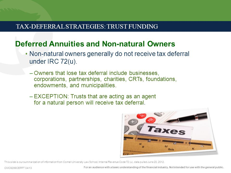 Deferred Annuities and Non-natural Owners