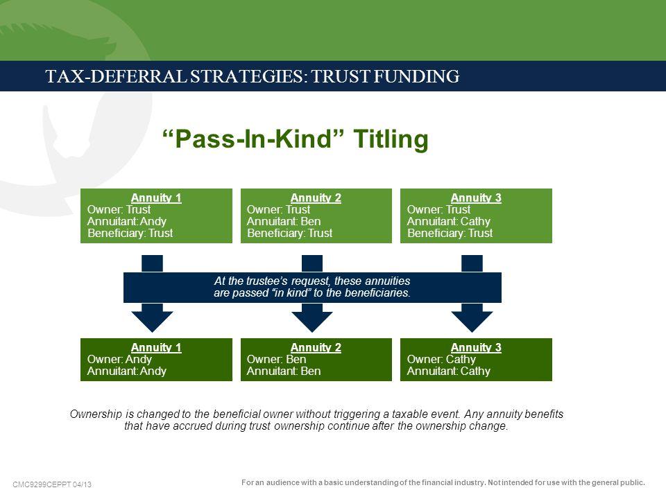 TAX-DEFERRAL STRATEGIES: TRUST FUNDING