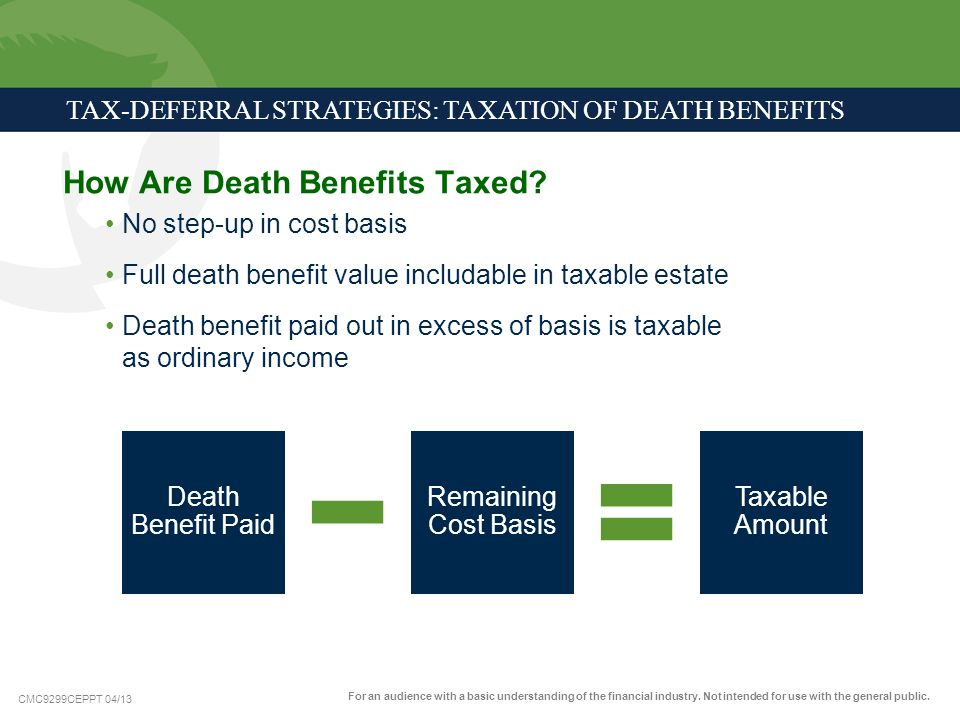 How Are Death Benefits Taxed