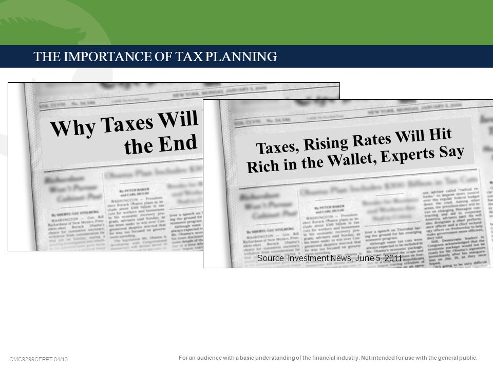 The Importance of Tax Planning