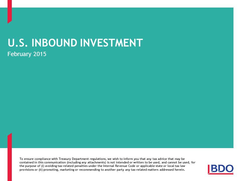 U.S. INBOUND INVESTMENT February 2015