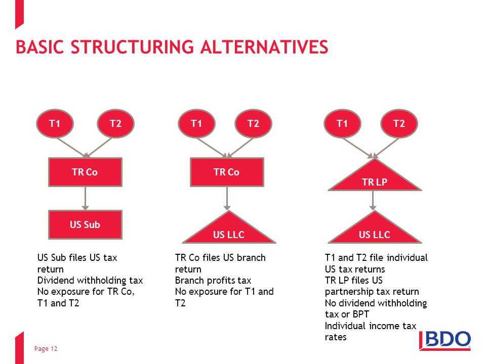BASIC STRUCTURING ALTERNATIVES