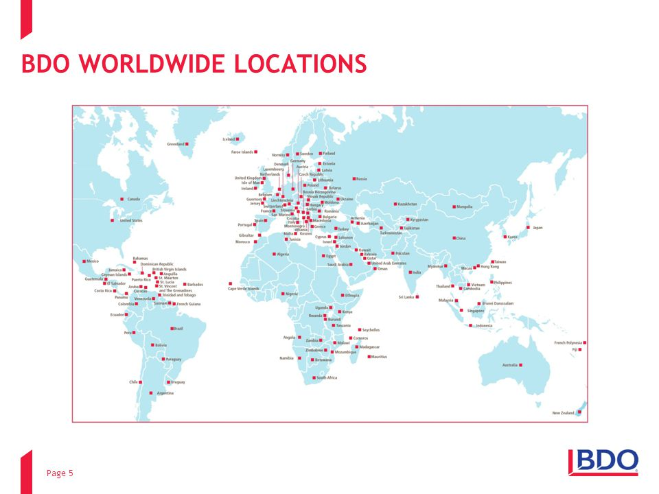 BDO WORLDWIDE LOCATIONS