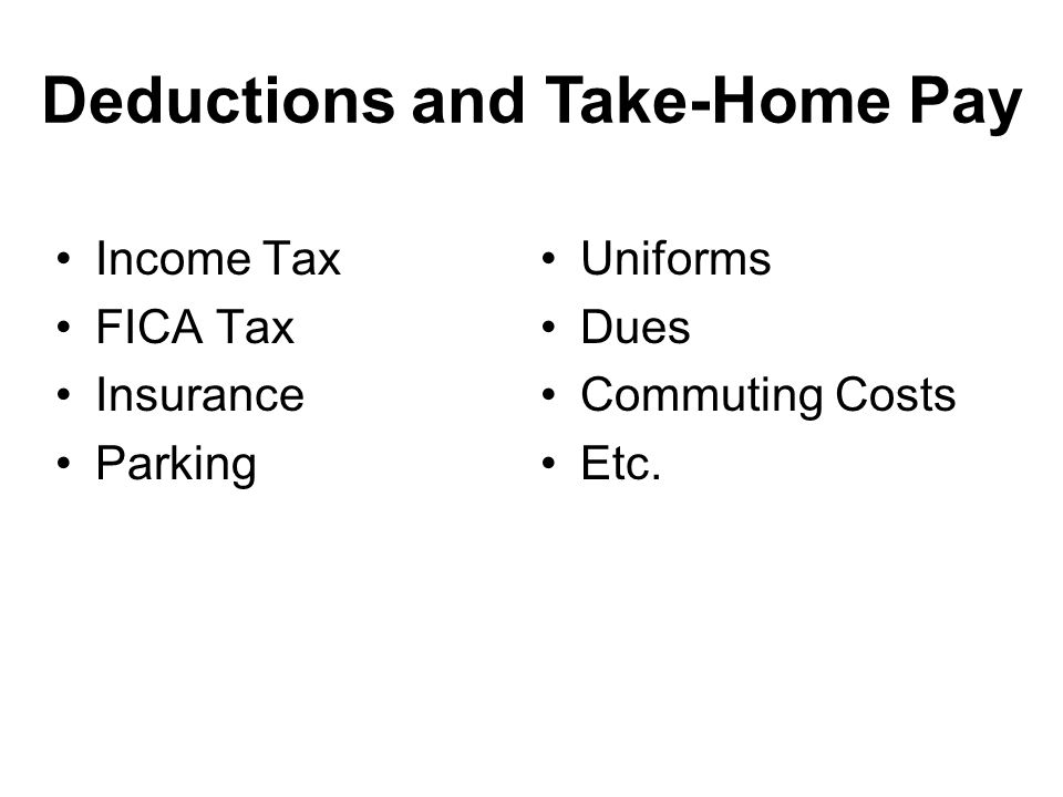 Deductions and Take-Home Pay