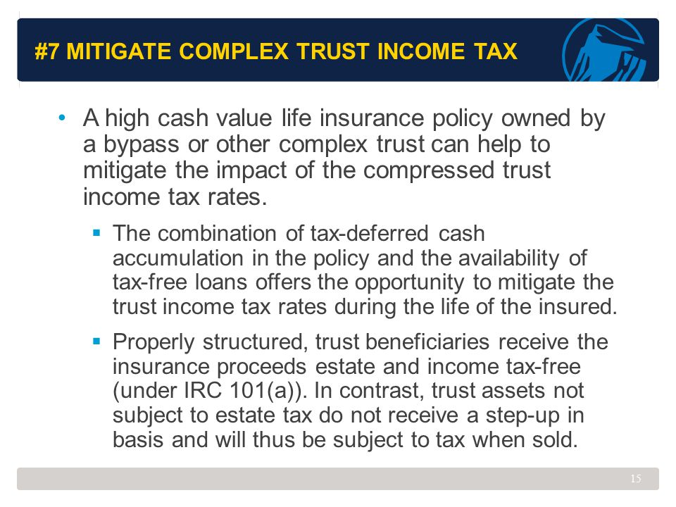 #7 Mitigate Complex Trust Income Tax