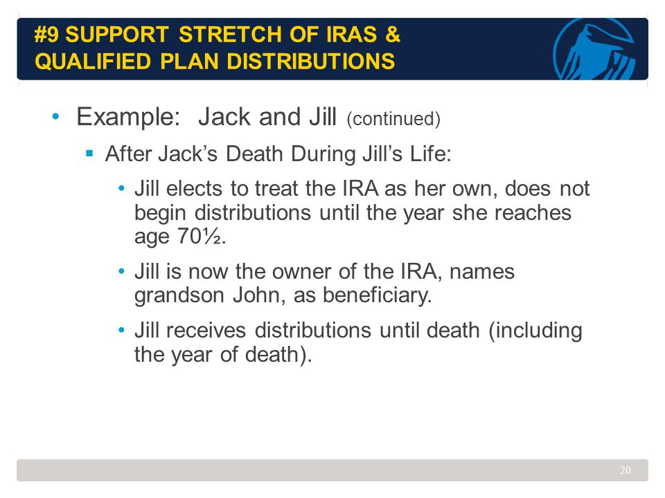 #9 Support Stretch of IRAs & Qualified Plan Distributions