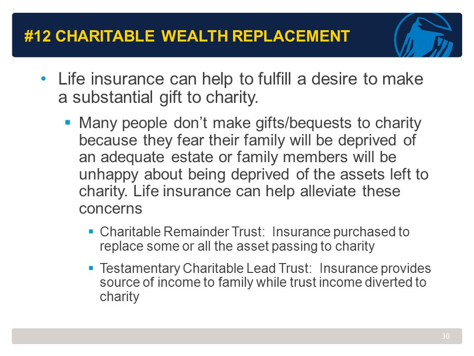 #12 Charitable Wealth Replacement