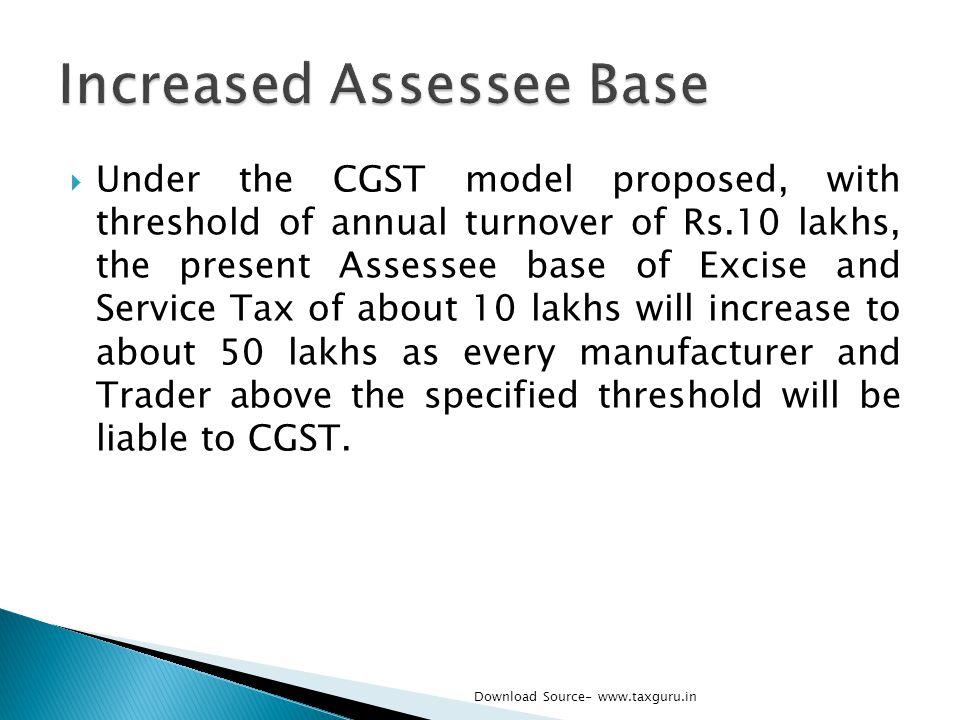 Increased Assessee Base