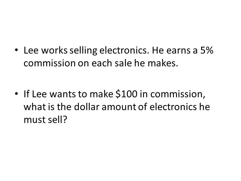 Lee works selling electronics