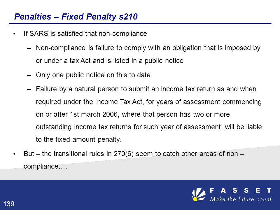 Penalties – Fixed Penalty s210