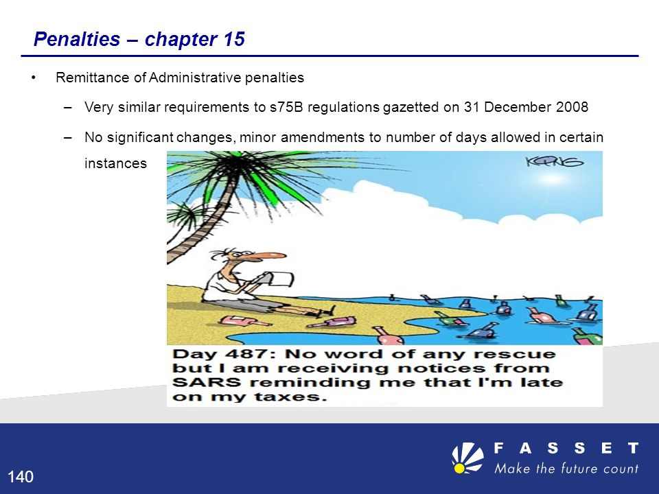 Penalties – chapter 15 Remittance of Administrative penalties