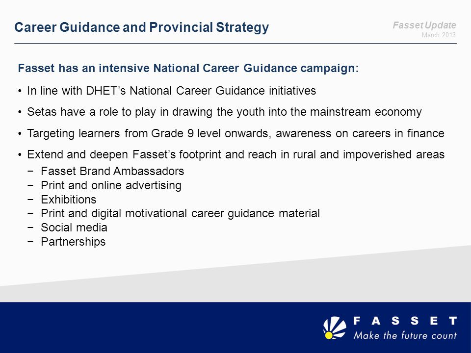 Career Guidance and Provincial Strategy