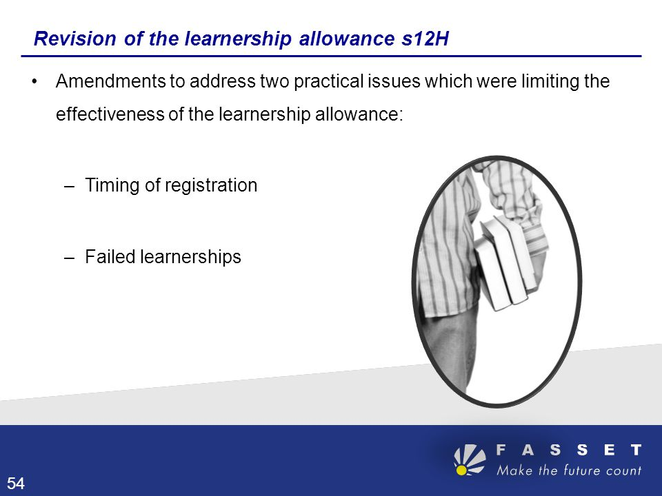 Revision of the learnership allowance s12H