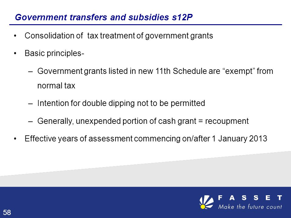 Government transfers and subsidies s12P