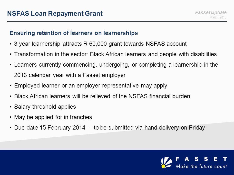 NSFAS Loan Repayment Grant