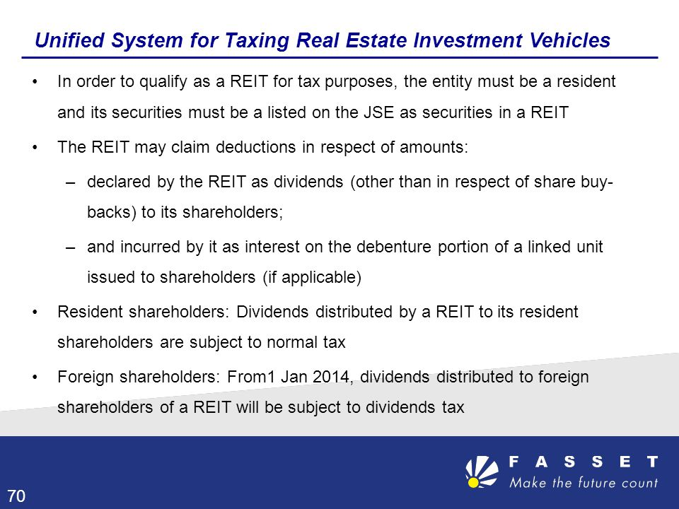 Unified System for Taxing Real Estate Investment Vehicles