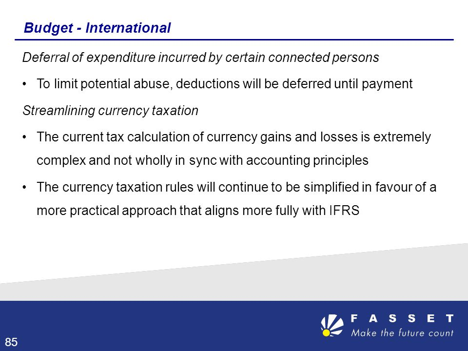 Budget - International