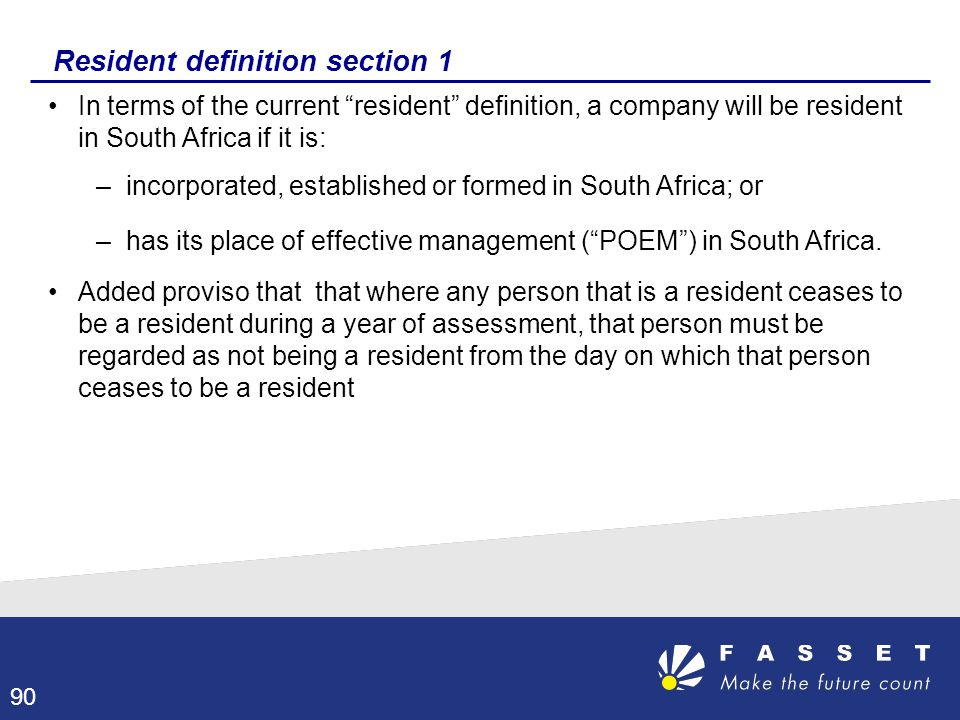 Resident definition section 1