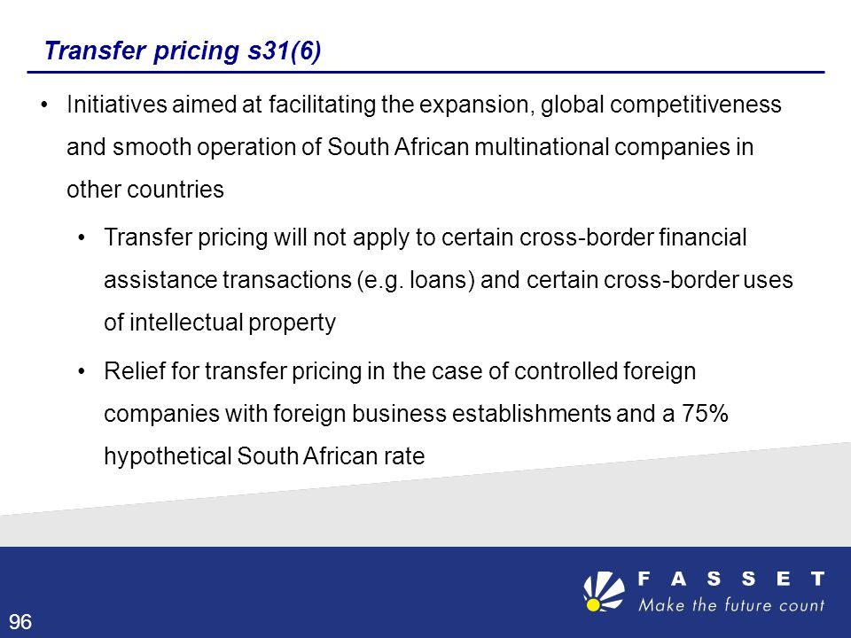 Transfer pricing s31(6)