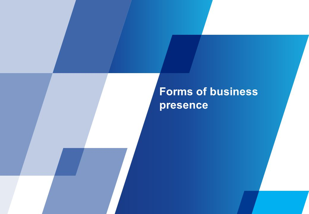 Forms of business presence