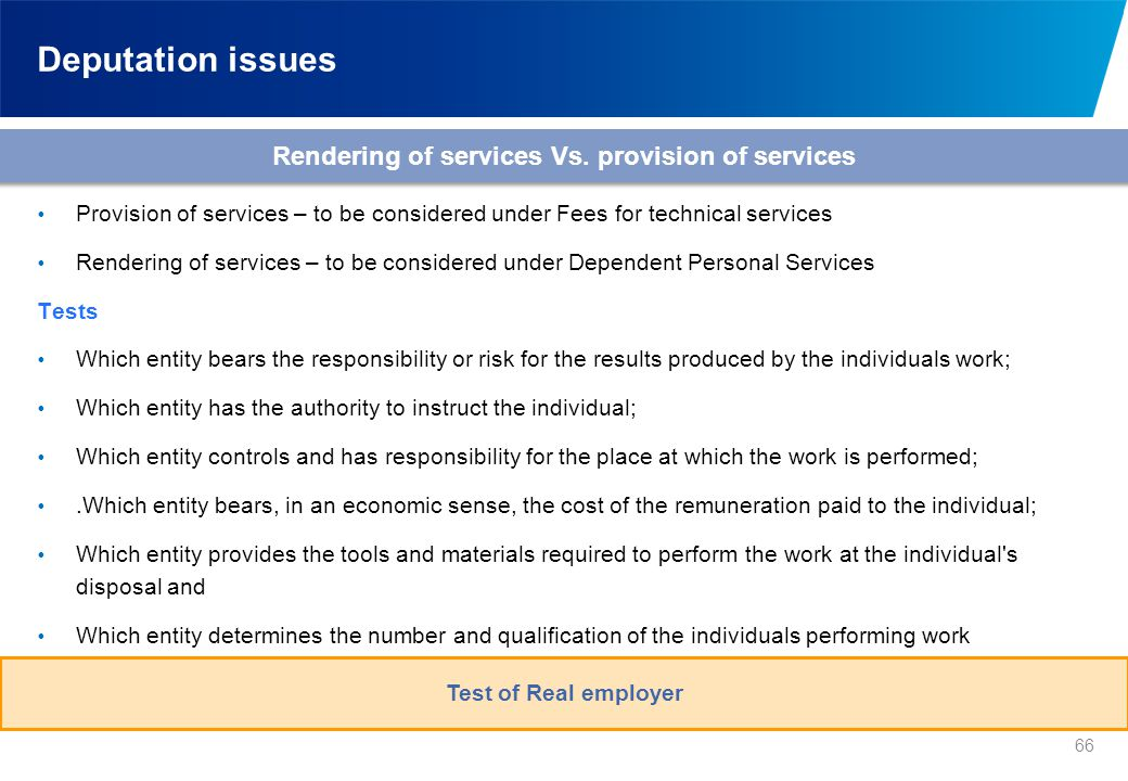Deputation issues A typical secondment arrangement