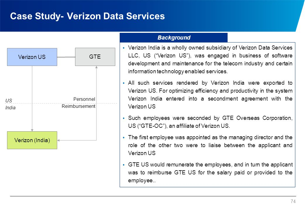 Case Study - Verizon Data Services (contd.)