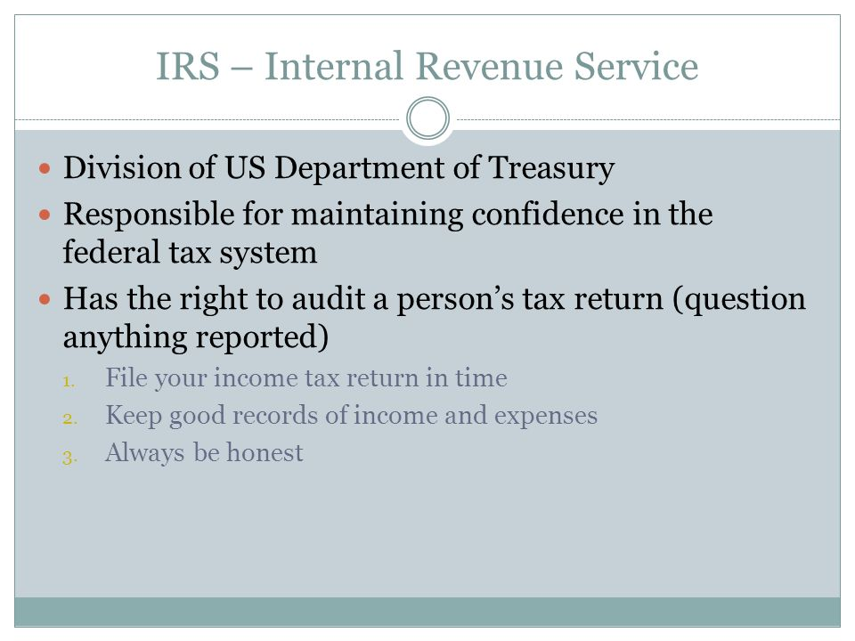 IRS – Internal Revenue Service