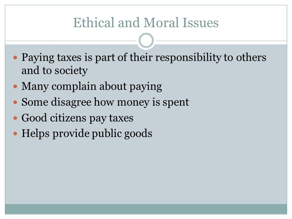 Ethical and Moral Issues