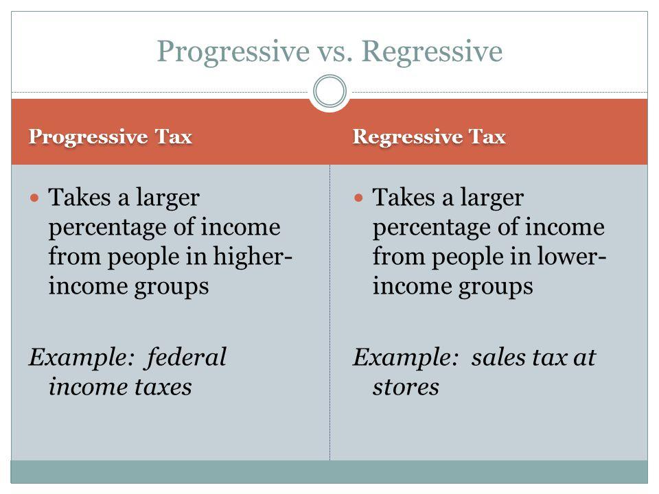 Progressive vs. Regressive