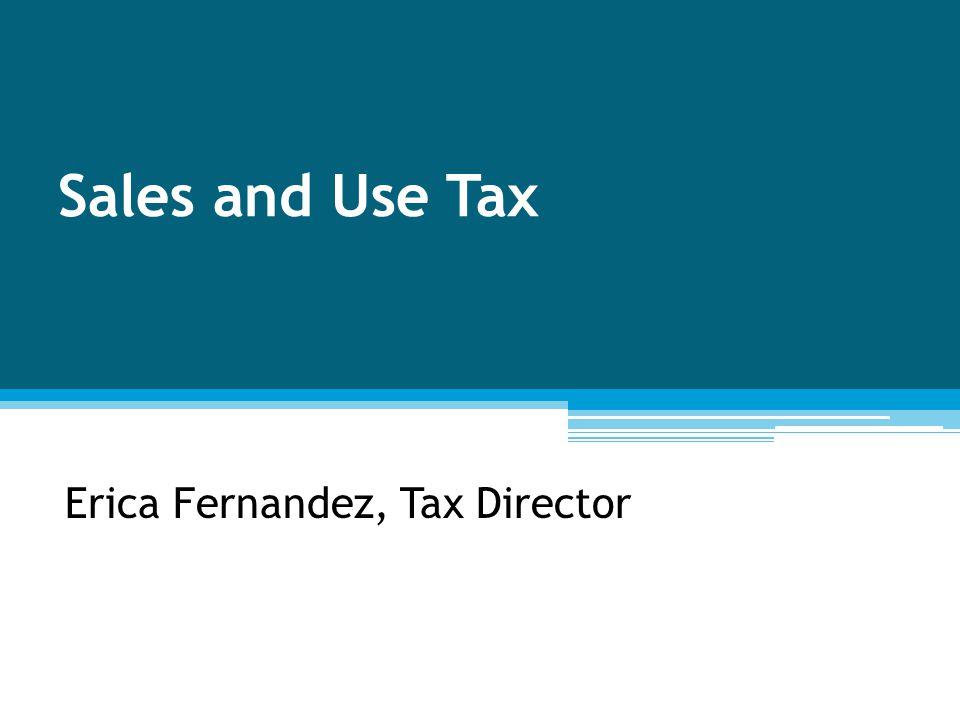 Erica Fernandez, Tax Director